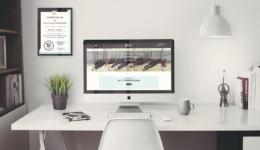 Betsy's Hot Yoga Studio Desktop Homepage Mockup
